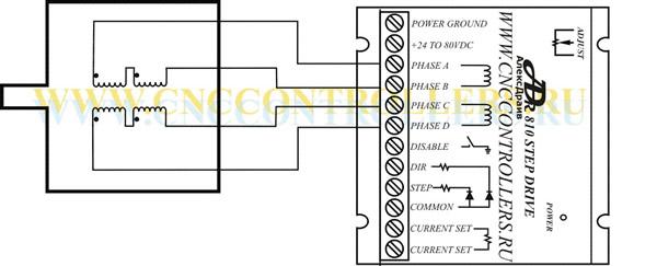 Схема подключения 4-х