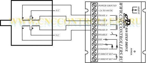 Схема подключения 6-ти выводного двигателя при использовании на полную мощность