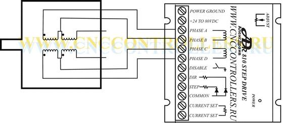 Схема подключения 6-ти выводного двигателя при использовании на 1/2 мощности