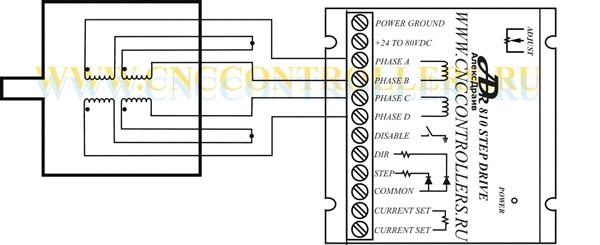 Схема подключения 8-ти выводного мотора с последовательным соединением обмоток